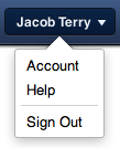 New MobileMe Account Dropdown