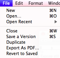 Versions File Options